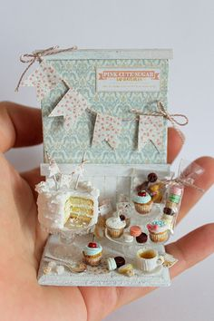 For a full board of Dollhouse Miniature Food Prep Boards, Tables and Scenes with 'No Pin Limits', Click here: https://www.pinterest.com/annesminis/~-miniature-food-prep-boards-tables-scenes-~/