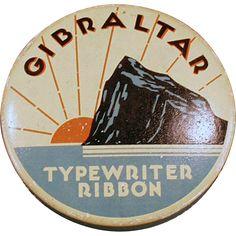 Vintage, Typewriter Ribbon Tin - Gibraltar