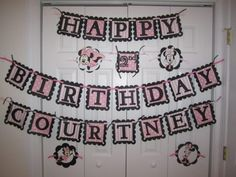 Personalized Minnie Mouse Birthday Banner by tiffanybeavers, $27.00