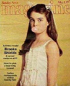 Brooke Shields covers Sunday News Magazine, May Young Celebrities, Celebs, Brooke Shields Young, Vintage Romance, Vogue Covers, Tabu, Future Wife, Pretty Baby, Celebrity