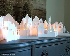 Imprimolandia: Silueta de un pueblo de invierno                              …