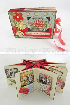 Star book Tutorial - Crafts Are Fun Mini Albums, Mini Scrapbook Albums, Origami, Book Crafts, Paper Crafts, Mini Album Tutorial, Album Book, Handmade Books, Handmade Cards