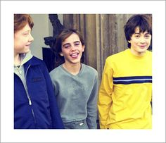 Dan, Emma, and Rupert. It's so weird seeing young Dan without his glasses and scar!