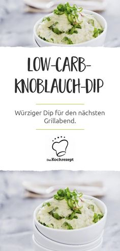 Low-Carb-Knoblauch-Dip This garlic dip not only tastes really good, but is also low in carbs! So you can safely incorporate the dip into your low-carb menu. We are sure it will be every week, it's so delicious. Fall Recipes, Diet Recipes, Healthy Recipes, Finger Food Appetizers, Appetizer Recipes, Low Carb Menus, Garlic Dip, Pulled Pork Recipes, Armadillo