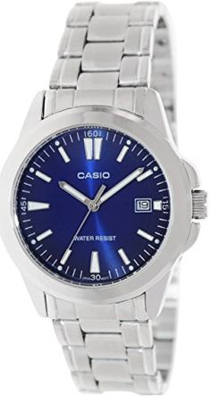 Casio MTP1215A2A2 Mens Analog Stainless Steel Watch with Date * Visit the image link more details.