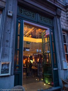 Beautiful entrance Café Theater, Ghent, Belgium