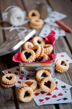 valentine jam cookies