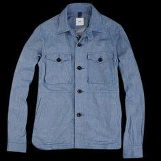 UNIONMADE - ts(s) - Herringbone Denim Cloth CPO Shirt Jacket in Blue