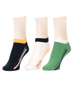 U.S. Polo Assn. presents this multi-coloured pack of 3 pairs of socks, which will catch your attention instantly. Made of finest quality fabric, these socks ensure maximum comfort. Offering an amazing fit, these socks will stay soft against your skin. Furthermore, these socks will keep your feet dust free and provide you with warmth. Grab these socks as these are a must have accessory.      Material : Cotton     Type : Ankle Length Socks     Wearability : Casual     Color : Multi     Brand…