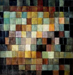 Hand-painted Paul Klee Ancient Sound Repro III - Paul Klee Oil Painting Reproduction For Office Decoration, Living Room modern abstract by lovehomeart on Etsy