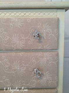 DIY Upcycled Fabric Covered Dresser :: Hometalk