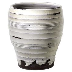 Found it at Wayfair - Grooved Vase in Distressed White