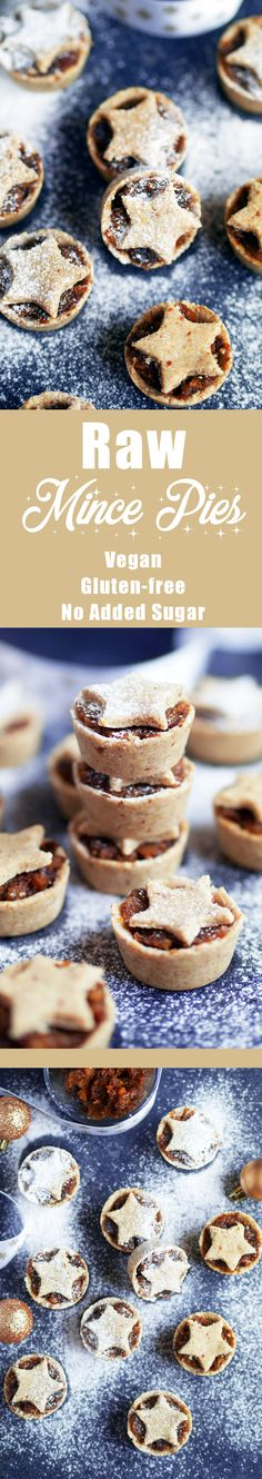 Raw, vegan & gluten-free Mini Mince Pies #healthy #mincepies #christmas #healthymincepies #veganmincepies #glutenfree #glutenfreemincepies #glutenfreechristmasdessert #veganchristmasdessert