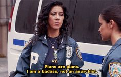 """When she stuck to the plan: 15 Times Detective Rosa Diaz Of """"Brooklyn Nine-Nine"""" Was Seriously Relatable The Plan, How To Plan, Plan Plan, Watch Brooklyn Nine Nine, Brooklyn 9 9, Rosa Diaz, Jake And Amy, True Detective, Rookie Blue"""