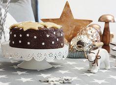 Lebkuchen mit Marzipansternen