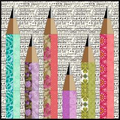 (7) Name: 'Quilting : Pencil Me In Mini Quilt