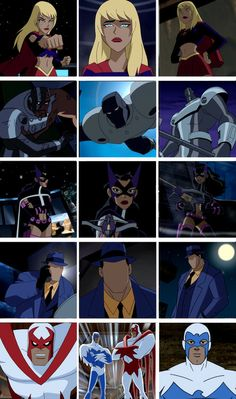 Supergirl, Steel, Huntress, The Question, Hawk&Dove - Justice League Unlimited Dc Comics Heroes, Marvel Dc Comics, Marvel Funny, Bruce Timm, Justice League Animated, Avengers Alliance, Batman The Animated Series, Dc Memes, Dc Characters