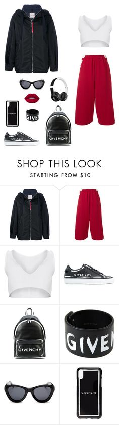 """🚁"" by carlotadsa ❤ liked on Polyvore featuring Moncler, Y-3, Givenchy, Lime Crime and Beats by Dr. Dre"