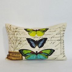 Butterfly Pillow Coverbutterflies pillow coverfrench by Serenesoul, $39.95