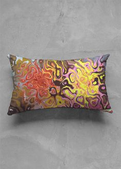 A beautiful and unique oblong pillow that is perfect for your collection! Shop artistic oblong pillow's created by designers all around the world. Vida Design, Dream High, Blue Brown, Organic Cotton, Pillow Covers, Original Art, Pillows, The Originals, Abstract