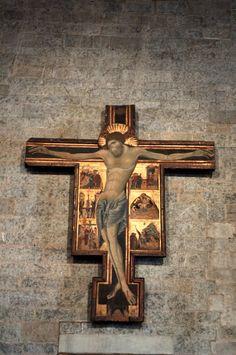 Coppo di Marcovaldo - Crocifisso di San Zeno - 1274 - crocifisso ligneo, sagomato e dipinto a tempera - 280x245 cm - Duomo di Pistoia.