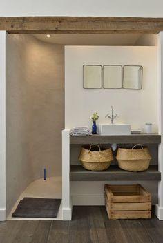 Bathroom Interior Design, Bathroom Inspiration, Small Bathroom, Loft Bathroom, Neutral Bathroom, Bathroom Ideas, House Design, House Styles, Home Decor
