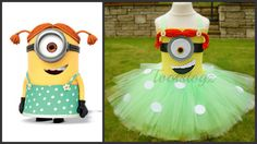 Handmade minion tutu dress. This is unlike others where it is blue & yellow. I think this is a real girlie costume.    **Please confirm measurements
