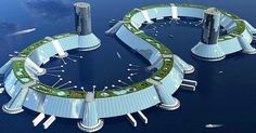 The Venus Project is the culmination of Jacque Fresco's life's work to present a sustainable redesign of our culture. 	The project lays out a sustainable world civilization where technology and... Futuristic Design, Futuristic City, Futuristic Architecture, Architecture Design, Parametric Architecture, Organic Architecture, Floating Cities, Floating House, Floating Island