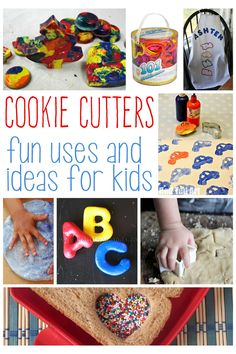 There are so many ways to use cookie cutters beside just baking.  Here are some fun cookie cutter Ideas for kids!