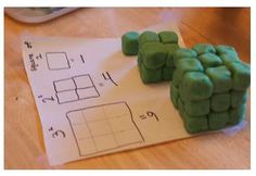 Cubes Activity to show the difference between squares and cubes. http://ccingitonedayatatime.blogspot.com/p/cc-by-week.html