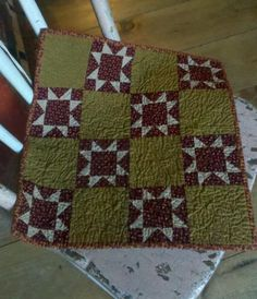 starsquilt, cheri quilt, star quilts, small quilt, doll quilt