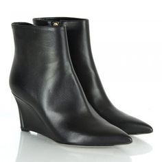 Sergio Rossi Alondra Black Wedge Ankle Boots