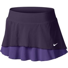 Nike Flouncy Woven Women's Tennis Skirt - Grand Purple, XS ($58) ❤ liked on Polyvore