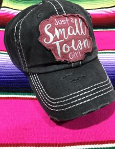"00fbf94f5a455 Gray ""small town girl"" hat  ballcap  smalltown Small Town Girl"