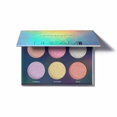 Anastasia Beverly Hills Dream Glow Kit contains 6 shades of highlighting powder featuring bright ultra-reflective hues and multidimensional sparkle. Anastasia Beverly Hills Glow Kit, Anastasia Glow Kit, Metallic Makeup, Glitter Makeup, Abh Glow Kit, Aurora Glow Kit, Anastasia Beverlyhills, Faces Cosmetics, Melt Cosmetics