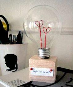 DIY Valentine Lightbulb | 10 Valentine's Day Ideas for Him
