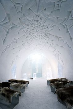 icehotel in jukkasjärvi, sweden - i think that i've had enough of the cold and would like a 'warm' vacation, but this hotel looks pretty amazing. I'm guessing it's worth a visit.