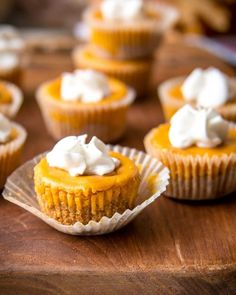Pumpkin Cheesecake Bites are subtly sweet and fragrant with pumpkin pie spice and a gingersnap crust. An easy, bite-sized fall dessert! Fall Desserts, Dessert Recipes, Keto Recipes, Keto Desserts, Mini Desserts, Ketogenic Recipes, Keto Snacks, Plated Desserts, Low Carb Pumpkin Cheesecake