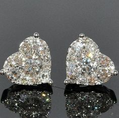 Chanel heart-shaped diamond earrings. - Style Estate -
