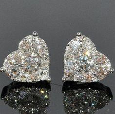 Chanel heart-shaped diamond earrings. - Style Estate - yes please