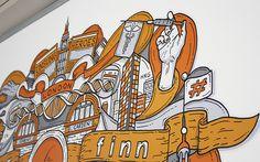 Ruder Finn - Office mural on Behance