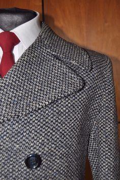 Vintage 1970s Austin Reed Mens Blue Barleycorn Wool Tweed Peacoat Jacket Coat S | Abbigliamento e accessori, Vintage, Uomo: abbigliamento vintage | eBay!