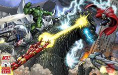 godzilla crossover | Most Epic Crossover Pics You've Ever Seen, Part 12 | Page 54 ...
