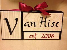 Wedding or Anniversary blocks by jennifervanhise on Etsy, $20.00