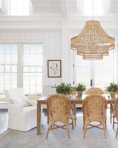 We're sharing how to bring seaside-inspired design to your dinner table with our favorite coastal dining room lighting ideas. Whether you're shopping for an eat-in kitchen nook or a bonafide dining table, we've got you covered. Home Interior, Interior Decorating, Interior Colors, Interior Modern, Interior Ideas, Decorating Ideas, Coastal Christmas Decor, Coastal Wall Decor, Seaside Decor