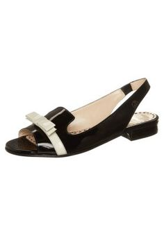 Moschino Cheap and Chic Sandalette - black / white - Zalando.de