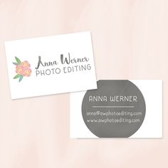 Anna Werner Photo Editor Business Card Logo Design