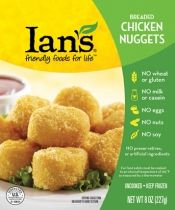 Gluten free chicken nuggets.  These contain garlic so we have to limit to 4 or 5 nuggets.