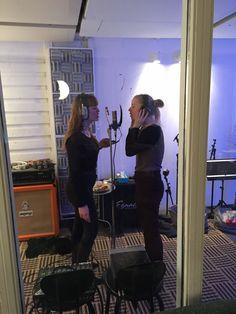 Nadja and Signe recording backing vocals Recorder Music, Ship, Selfie, Concert, Ships, Concerts, Selfies