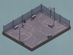 Thank you for the invite! Super excited to be a part of the Dribbble community!  Here's my first shot that I made just for Dribbble (obviously it had to be a basketball court).